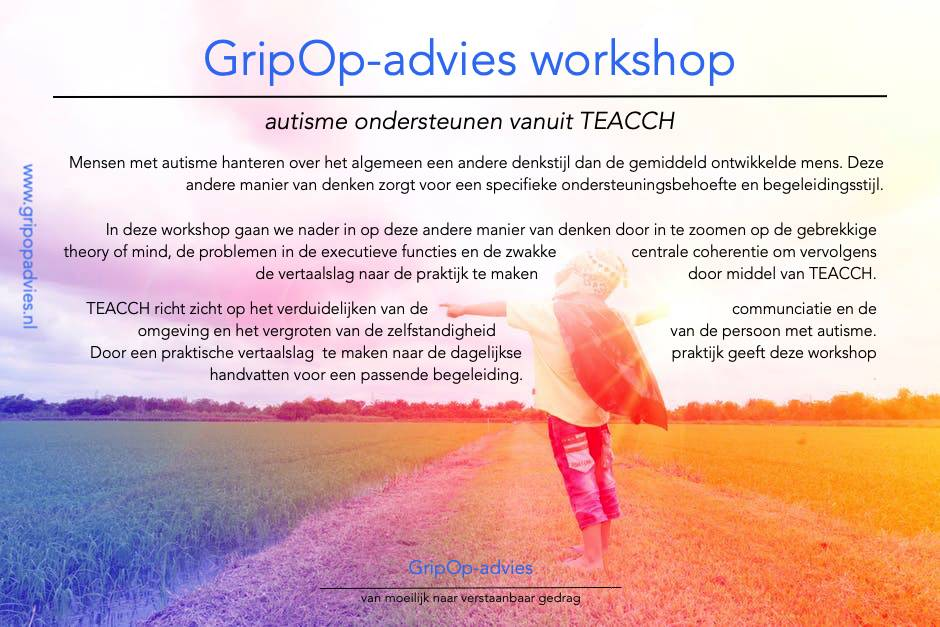 flyer autisme en TEACCH_1